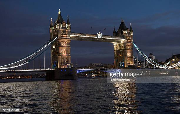 Tower Bridge in London England on January 22 2014
