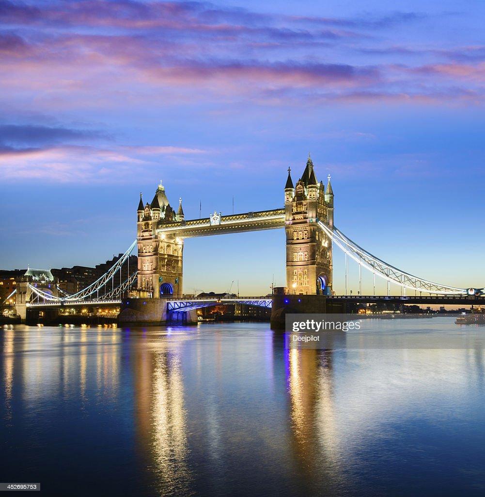 Tower Bridge located in London : Stock Photo