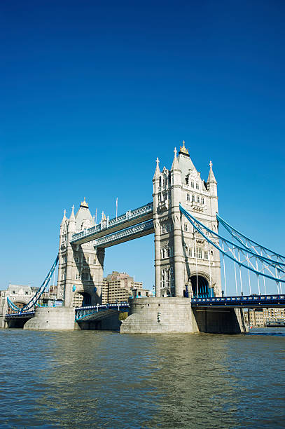Tower Bridge London Bright Blue Sky