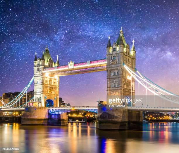 tower bridge london londres at dusk england milkyway