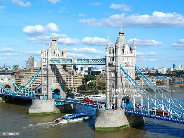 Tower Bridge Over Thames River In City