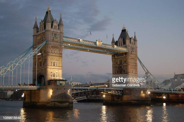 tower bridge, symbol of london, united kindom - london bridge stock photos and pictures