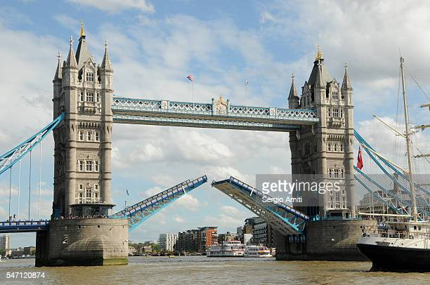 Tower Bridge with lifted bridge
