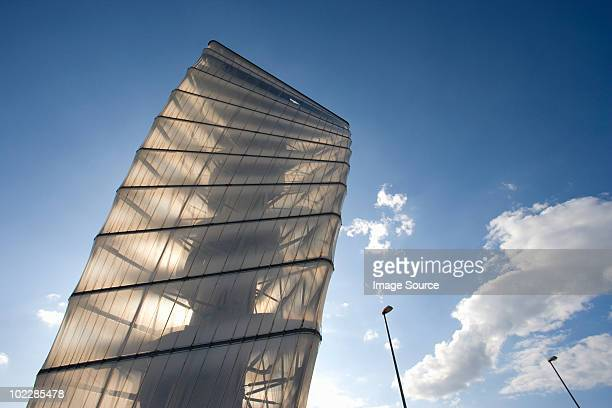 tower building near berlin schoenefeld airport - flughafen berlin brandenburg stock-fotos und bilder