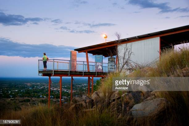 Tower Hill Lookout provides a vista of the town as well as the film 'Ghosts After Dark' screened in the Amphitheatre each evening Charters Towers...