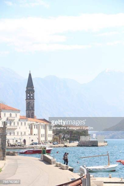 tower in old town - england montenegro stock pictures, royalty-free photos & images