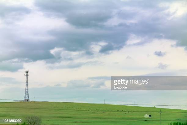 tower in prairie - liyao xie stock pictures, royalty-free photos & images