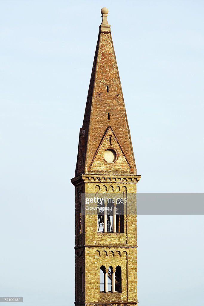 Tower of a church, Florence, Tuscany, Italy : Stock Photo