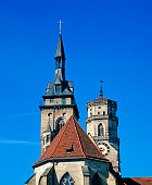 low angle view tower stiftskirche collegiate