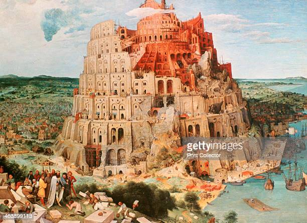 'Tower of Babel' 1563 The Tower of Babel was built by a united humanity in an attempt to reach Heaven From the collection of the Kunsthistorisches...