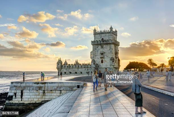 tower of belem - lisbon stock pictures, royalty-free photos & images
