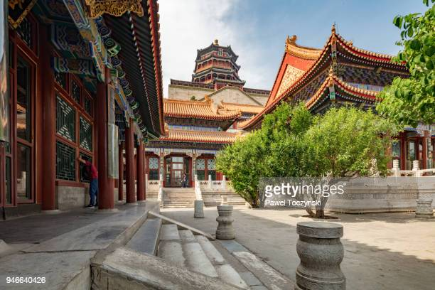 Tower of Buddhist Incense in the Longevity Hall in Beijing Summer Palace build by Emperor Qianlong, China