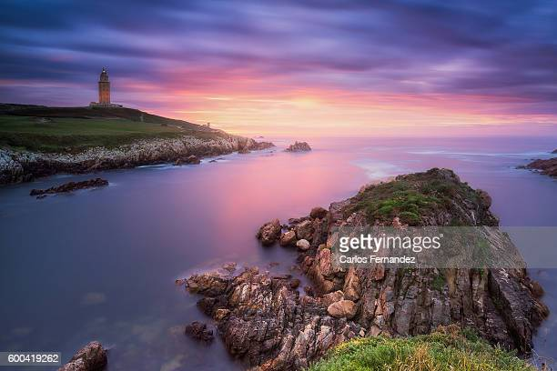 tower of hercules, coruña, galicia, spain - a coruña stock pictures, royalty-free photos & images