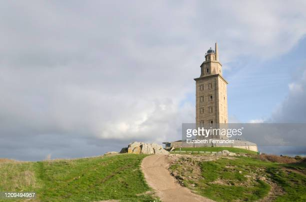 tower of hercules - compass rose stock pictures, royalty-free photos & images