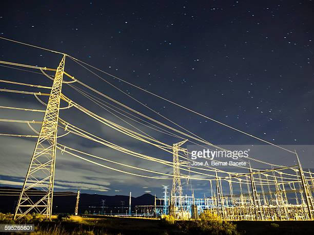 Tower of high tension and an electrical substation