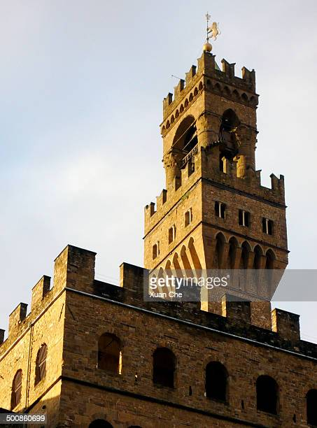 tower of palazzo vecchio - xuan che stock pictures, royalty-free photos & images