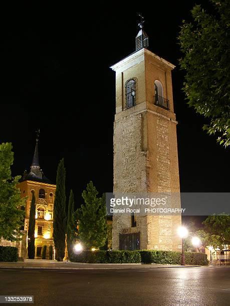 tower of santa maria - alcala de henares stock pictures, royalty-free photos & images