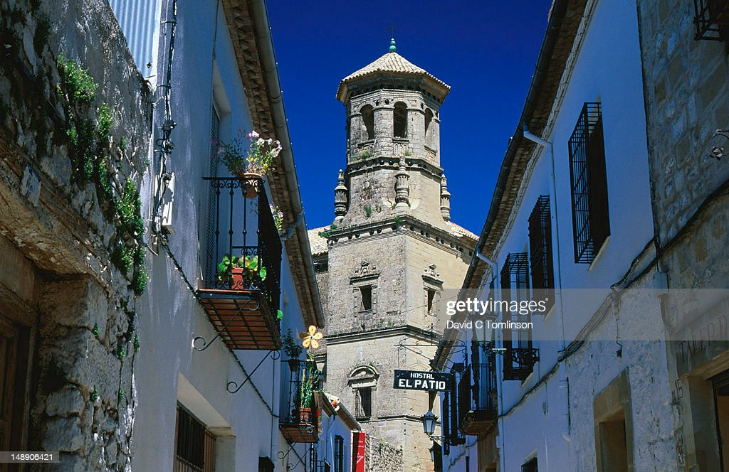 Tower of the Antigua Universidad (Old University). : Stock Photo