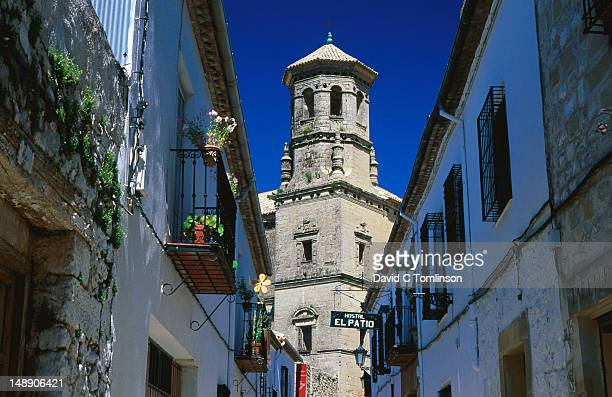 tower of the antigua universidad (old university). - universidad stock pictures, royalty-free photos & images