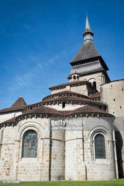 Tower of the Charter Keeper, Monastery of St. Valerie in Chambon sur Voueize, Tour du Chartrier, Abbatiale Sainte Valérie, Creuse, France