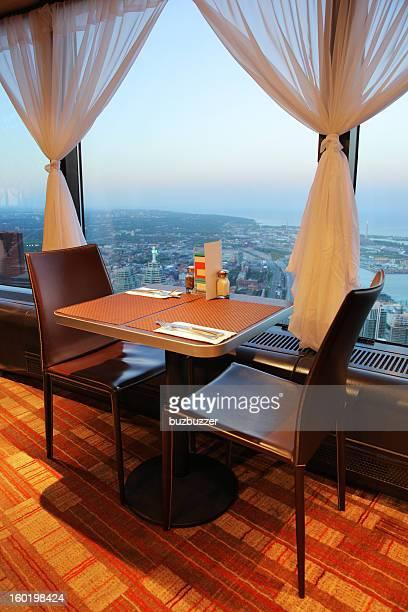 CN Tower Restaurant Blick auf Toronto City