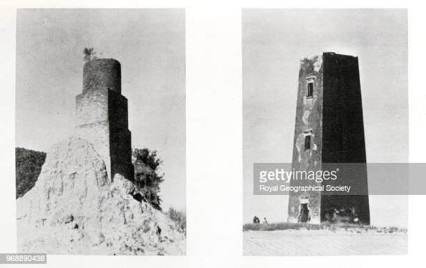 Tower Stations of the Great Arc On the low lying plains of India and along the northern borders towers were needed to sight trigonomical observations...