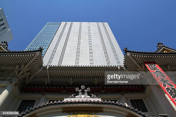 towering theater - kabuki za stock photos and pictures