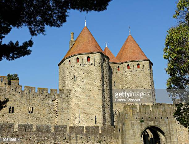 Towers and Walls of Fort City of Carcassonne - France