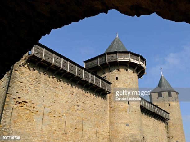 Towers and Wooden Ramparts of Carcassonne (Cité de Carcassonne), France
