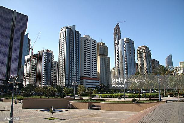 towers by the park - zeesstof stock pictures, royalty-free photos & images