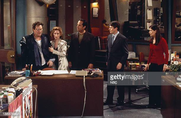 "Towers"" Episode 13 -- Pictured: Stephen Root as Jimmy James, Vicki Lewis as Beth, Jon Lovitz as Max Lewis, Dave Foley as Dave Nelson, Maura Tierney..."