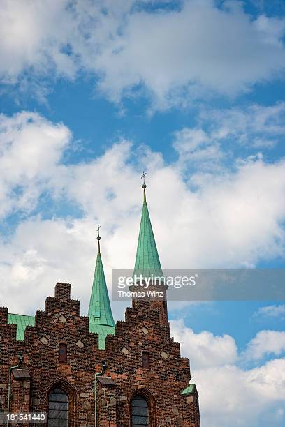 Towers of Aarhus cathedral