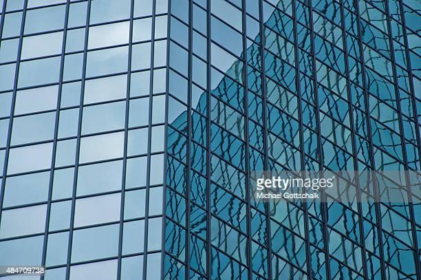 Towers of Deutsche Bank Headquarters on August 14 2015 in Frankfurt Germany