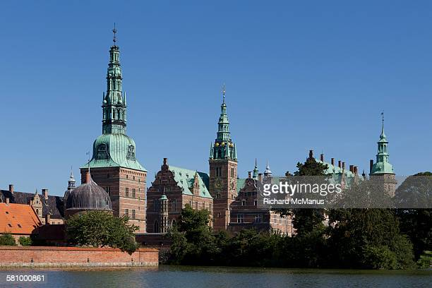 towers of frederiksborg. - hillerod stock pictures, royalty-free photos & images