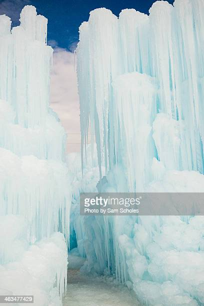 Towers of ice look like abstract buildings