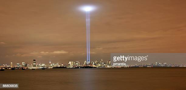 towers of light memorial - world trade center memorial stock pictures, royalty-free photos & images