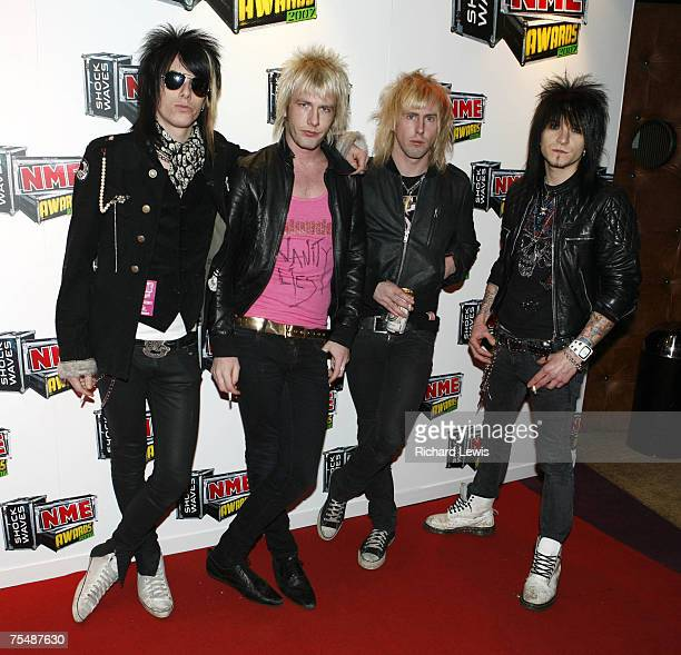 Towers of London arrive at the Shockwaves NME Awards 2007 at the Hammersmith Palais in London United Kingdom