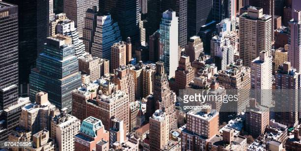 Towers of Manhattan - isometric high angle view