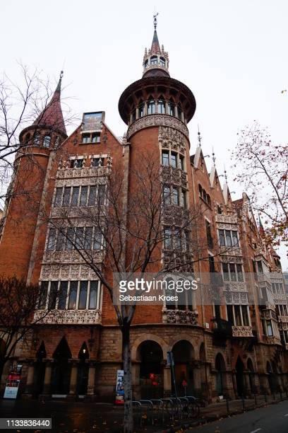 Towers of the Casa de les Punxes Building, Barcelona, Spain