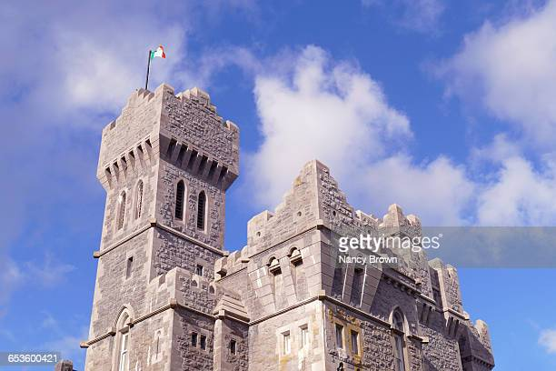 Towers on Ashford Castle in Ireland Mayo County.
