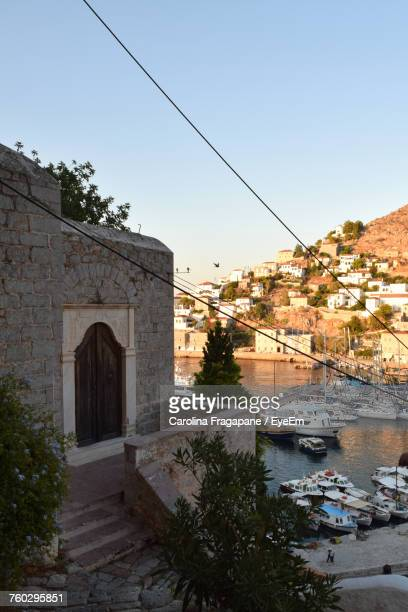 town against clear sky - carolina fragapane stock pictures, royalty-free photos & images