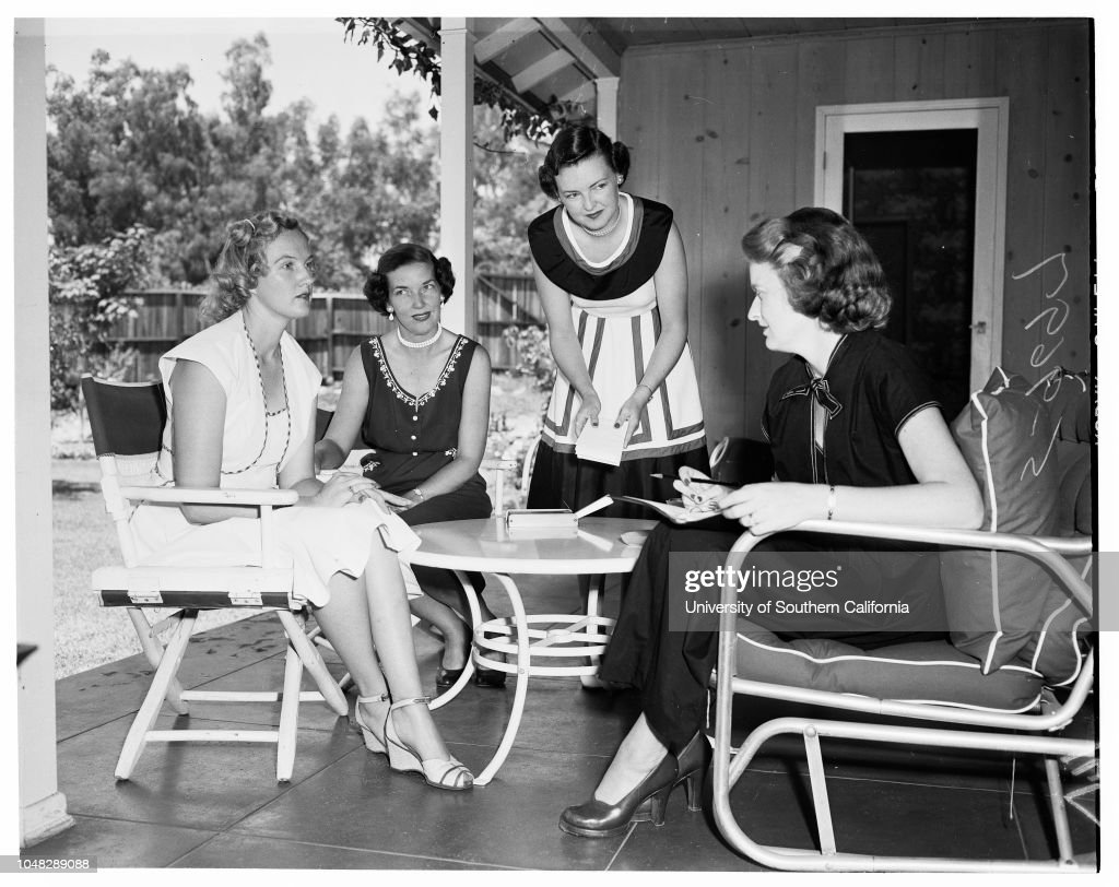 Town and Gown, 9 July 1952. Mrs Robert Maronde;Mrs Roland G Wood ...