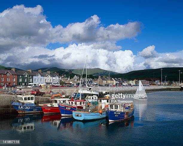 Town and Harbour, Dingle, County Kerry, Munster, Ireland