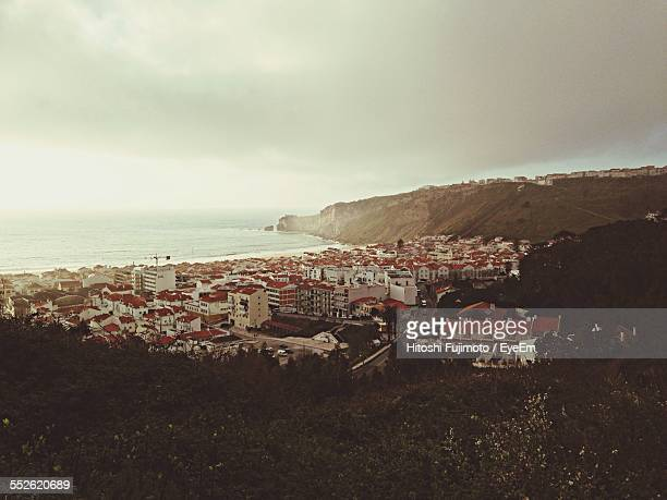 town beside sea - nazar stock photos and pictures
