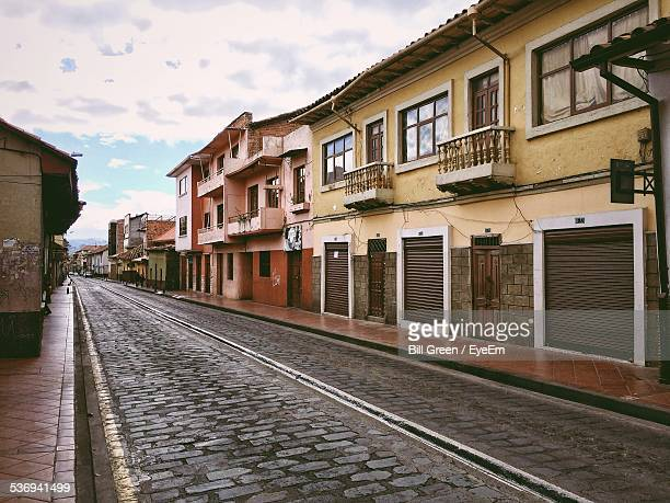 Town Buildings And Cobbled Street