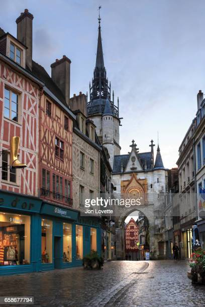 Town center and clock in Auxerre