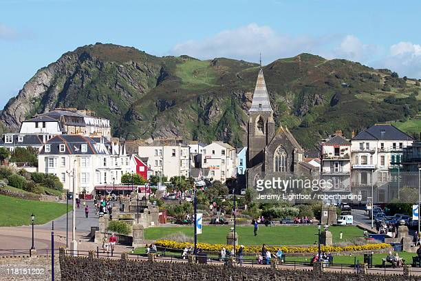town centre, ilfracombe, devon, england, united kingdom, europe - ilfracombe stock photos and pictures