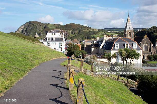 town centre, ilfracombe, devon, england. united kingdom, europe - ilfracombe stock pictures, royalty-free photos & images