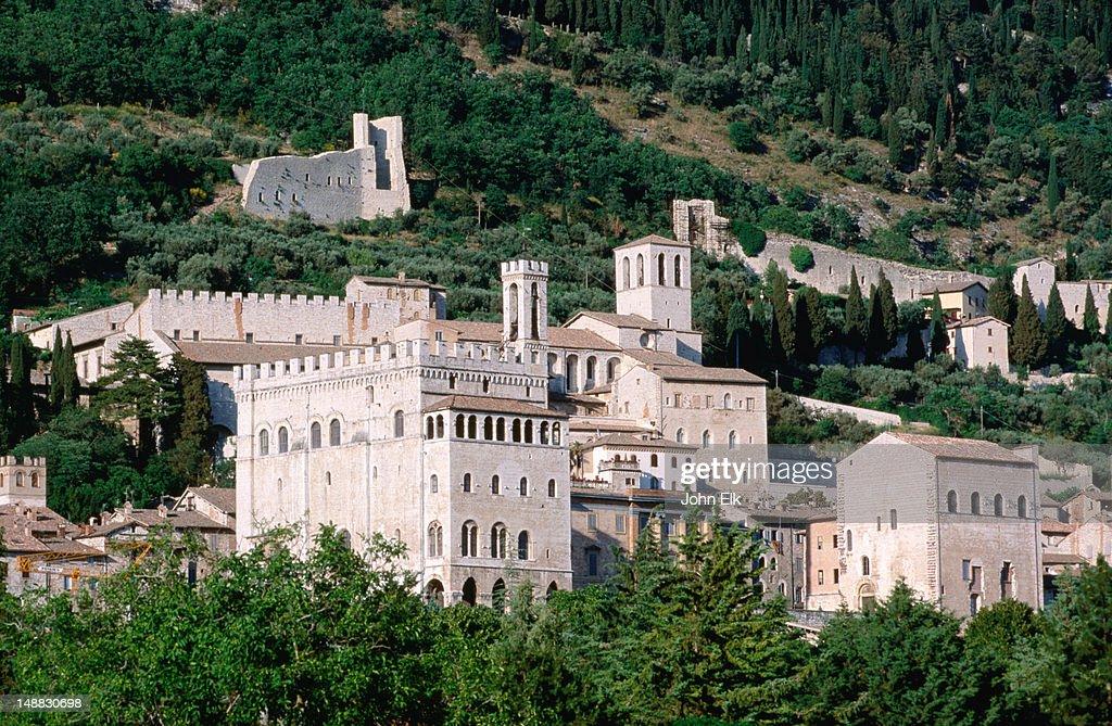 Town from below. : Foto de stock