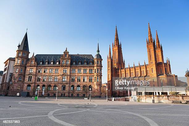 Town hall and Marktkirche Wiesbaden